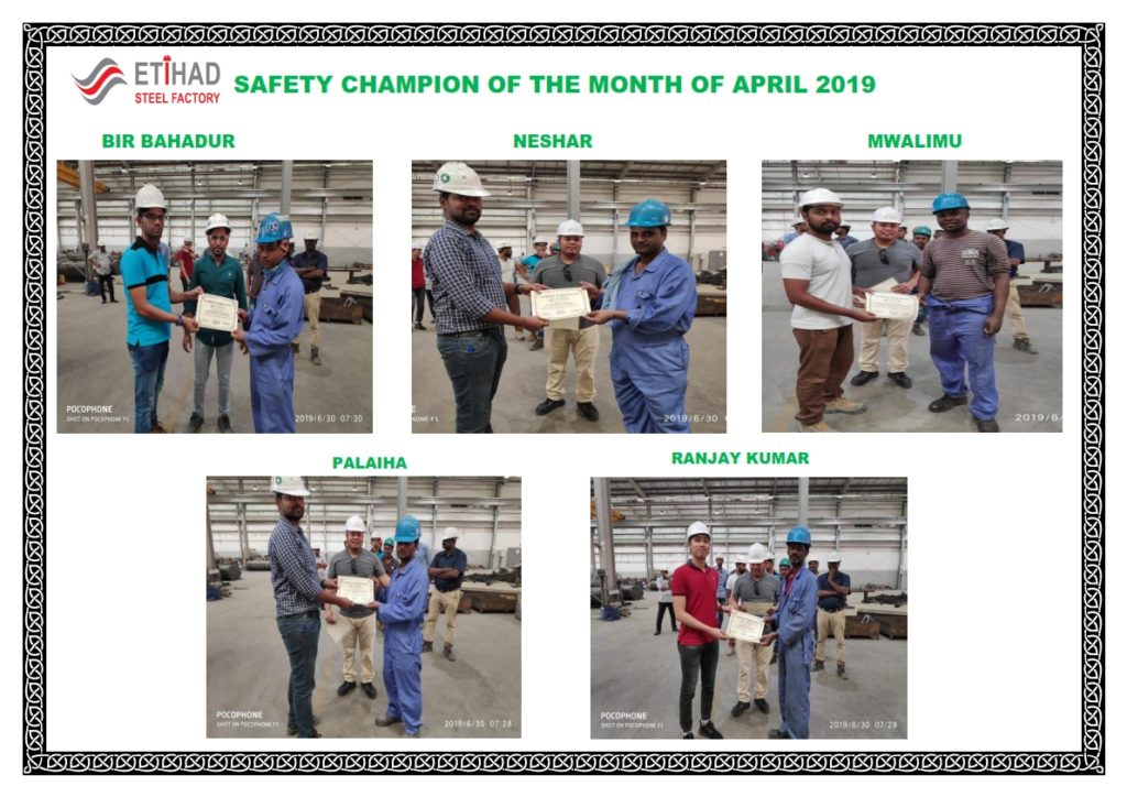SAFETY CHAMPIONAPRIL